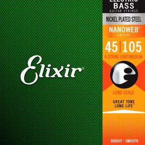 Фото 12 - Elixir 45-105 Bass Medium Long Scale 14077  Струны для бас-гитары.