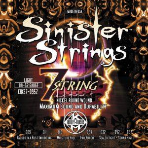 Фото 12 - KERLY KQXS7-0952 Sinister 7 Strings Nickel Plated Steel Tempered струны для 7-струнной электрогитары.