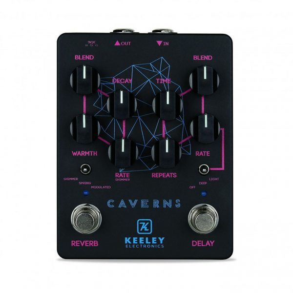 Фото 2 - Keeley Electronics Caverns Delay + Reverb V2 Black Neon Limited.