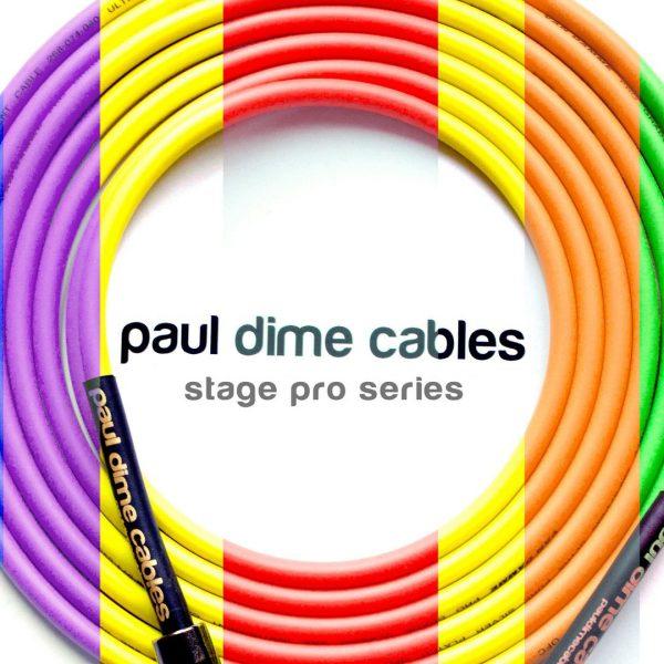 Фото 1 - Paul Dime Stage Pro 4,5m Инструментальный кабель, прямой-угловой.