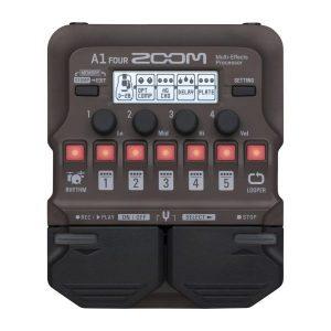 Фото 5 - Zoom A1 FOUR процессор эффектов для струнных и духовых акустических инструментов.