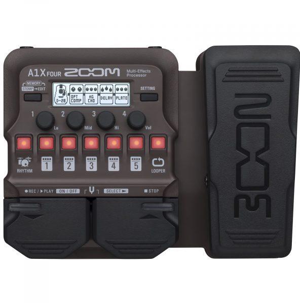 Фото 1 - Zoom A1X FOUR процессор эффектов для струнных и духовых акустических инструментов.