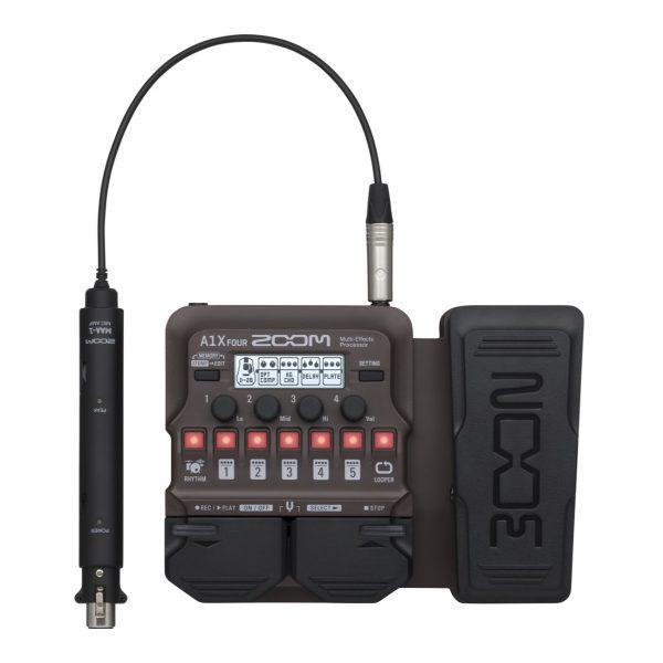 Фото 2 - Zoom A1X FOUR процессор эффектов для струнных и духовых акустических инструментов.